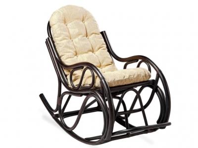 Кресло-качалка 05/04 с толстой подушкой венге матовый