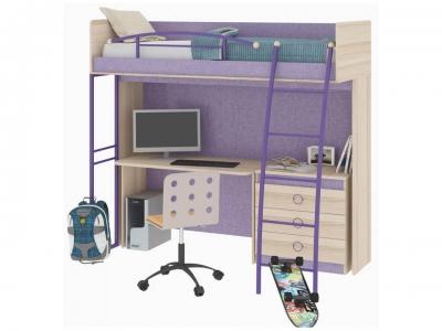 Кровать-чердак с рабочей зоной Индиго ГН-145.002