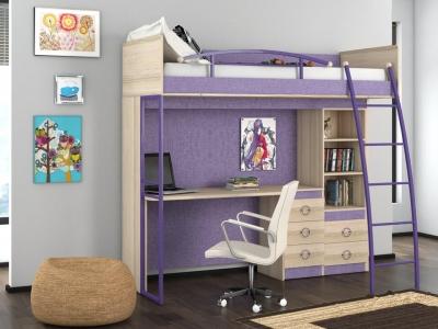 Кровать-чердак с рабочей зоной Индиго ГН-145.009