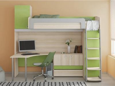 Кровать-чердак с рабочей зоной Киви ГН-139.003