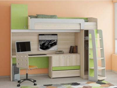 Кровать-чердак с рабочей зоной Киви ГН-139.004