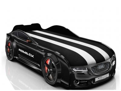 Кровать-машинка Romack Real-M А7 черная