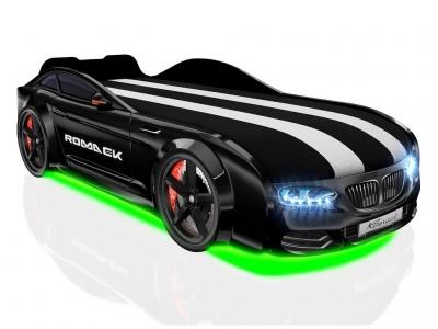 Кровать-машинка Romack Real-M X5 черная