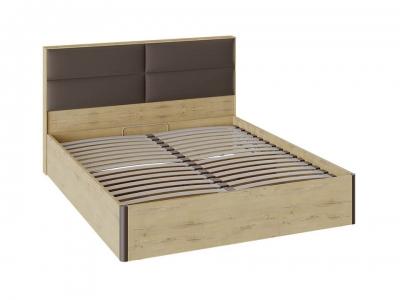 Кровать Николь с ПМ и мягким изголовьем СМ-295.01.004 Бунратти, коричневый