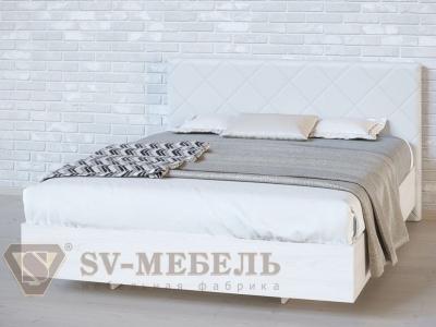 Кровать двойная №1 Ромб/Ясень Анкор светлый/Сантекс бежевый