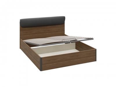Кровать с ПМ Харрис тип 2 СМ-302.01.007 Дуб американский, Серебряный гранит
