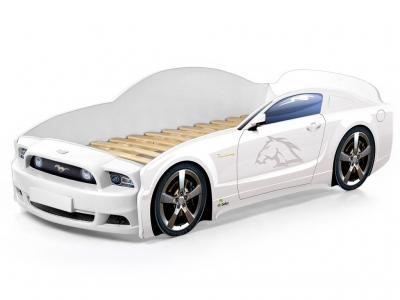 Кровать-машина Light Mustang plus белая