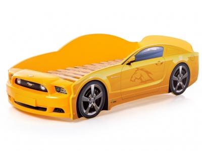 Кровать-машина Light Mustang plus желтая