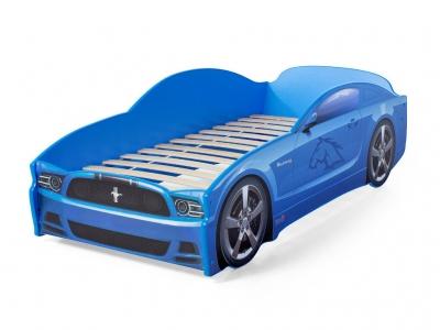 Кровать-машина Light Mustang синяя