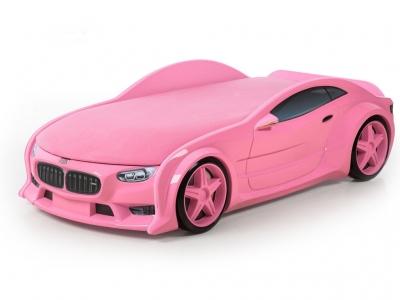 Кровать-машина Neo БМВ розовая