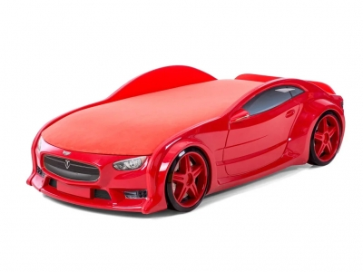 Кровать-машина Neo Тесла красная