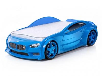 Кровать-машина Neo БМВ синяя