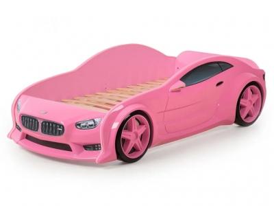 Кровать-машина Evo БМВ розовая