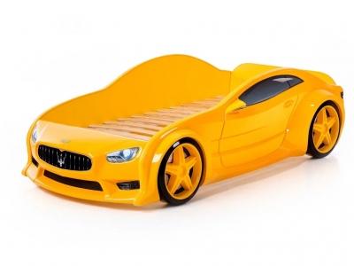 Кровать-машина Evo Мазерати желтая