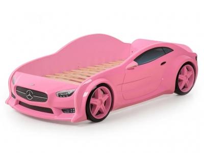 Кровать-машина Evo Мерседес розовая