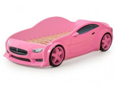 Кровать-машина Evo Тесла розовая