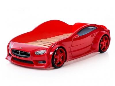 Кровать-машина Evo Тесла красная