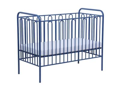 Кроватка детская Polini kids Vintage 110 металлическая, синий