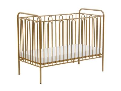 Кроватка детская Polini kids Vintage 110 металлическая, золотистый