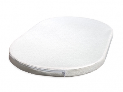 Беспружинный овальный матрас для кроваток Sleepy 1230х740х80 Эконом