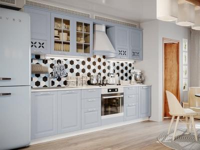Кухонный гарнитур Скай Голубая 2,85м