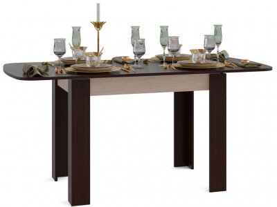 Кухонный стол Сокол СО-3 Венге подстолье Беленый дуб