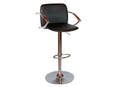 Барный стул Лого LM-3019 черный со спинкой и подлокотниками