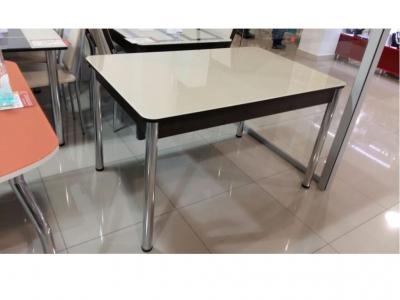 Раскладной стол со стеклом Лорд бежевый