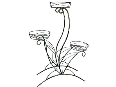 Подставка для цветов Лотос 3 Черный