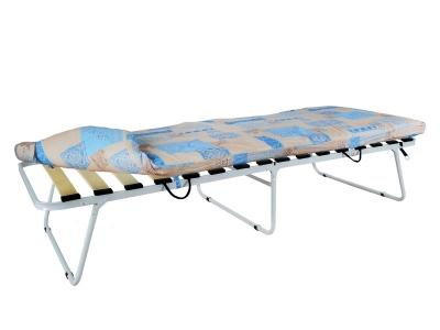 Кровать раскладная Марфа-3 увеличенная на ламелях с мягким матрасом