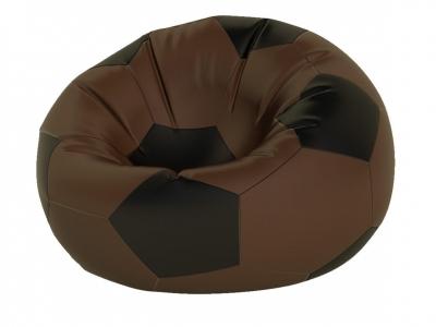 Кресло-мешок Мяч большой нейлон коричневый-черный