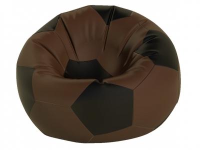 Кресло-мешок Мяч средний нейлон коричневый-черный