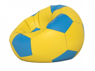Кресло-мешок Мяч малый нейлон желтый-голубой