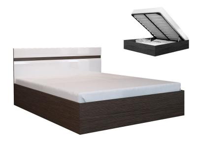 Кровать 1600 Ненси с ПМ Венге-Белый глянец