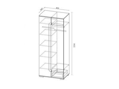 Шкаф комбинированный Нота-25 2134х850х540мм