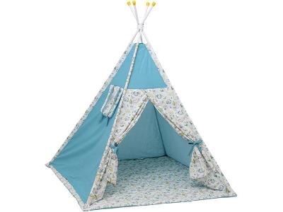Палатка-вигвам детская Polini kids Disney Последний богатырь, лес голубой