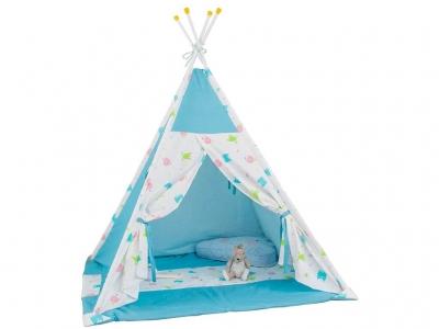 Палатка-вигвам детская Polini kids Монстрики, голубой