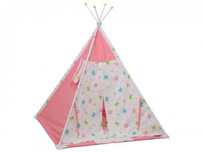 Палатка-вигвам детская Polini kids Монстрики, розовый