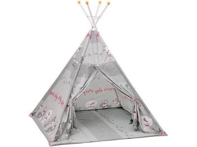 Палатка-вигвам детская Polini kids Веселая игра, серый