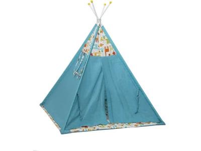 Палатка-вигвам детская Polini kids Жираф, голубой