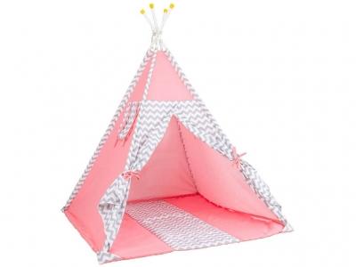 Палатка-вигвам детская Polini kids Зигзаг, розовый