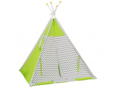Палатка-вигвам детская Polini kids Зигзаг, зелёный