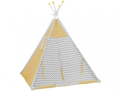 Палатка-вигвам детская Polini kids Зигзаг, жёлтый