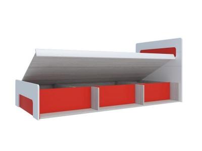 Кровать с подъемным механизмом Палермо-3 Юниор красная вставка 960х900х2048 мм