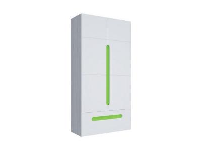 Шкаф 2-х створчатый с ящиками Палермо-3 Юниор зеленая вставка 1068х2078х381 мм
