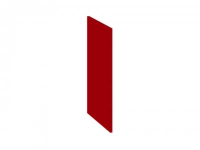 Панель боковая декоративная нижняя ПБд-Н(3)_72 Ассорти Вишня