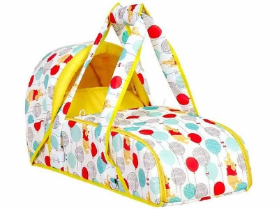 Переносная люлька-кокон Polini kids Disney baby Медвежонок Винни Чудесный день, жёлтый