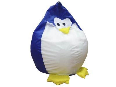 Кресло-мешок Пингвин нейлон синий