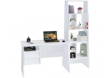 Письменный стол Сокол КСТ-115 со стеллажом Белый