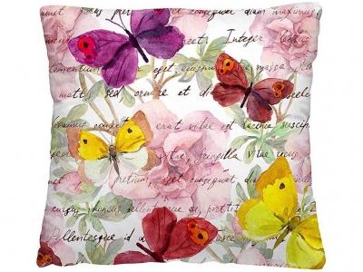 Подушка-думка 40/40 Пёстрые бабочки